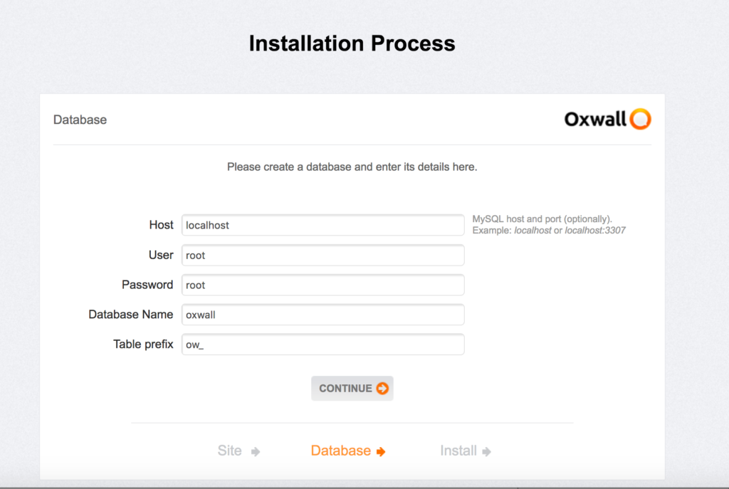 Process d'installation de OXWALL le CMS open source